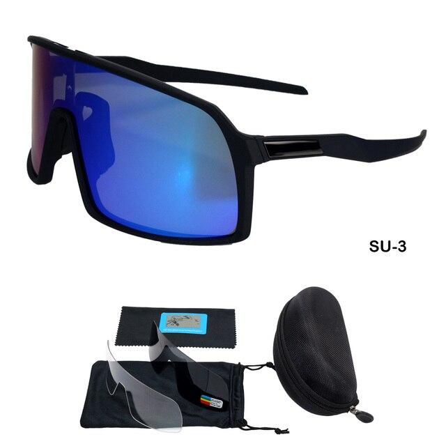 1244d727ec Nouvelle marque 3 lentilles polarisées cyclisme lunettes de soleil vtt vélo  Cycle lunettes hommes femmes Sport