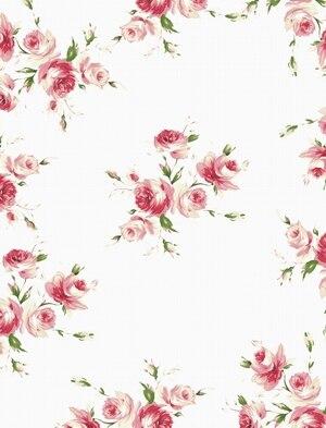 Tr 8x8ft Light Pink Flowers Satin Pattern Wall Custom Photo Backdrop