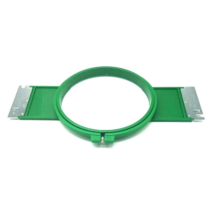 EMBROIDERY RESERVDELAR Tajima GREEN Hoops 180mm rund form Total längd 355mm TAJIMA rörformig TAJIMA tubular hoop