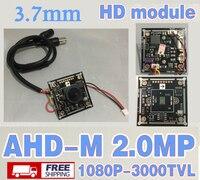 A Pack 125Pcs Free Shipping 3000TVL 1920 1080P 3 7m Cone AHD CCTV HD Mini Camera