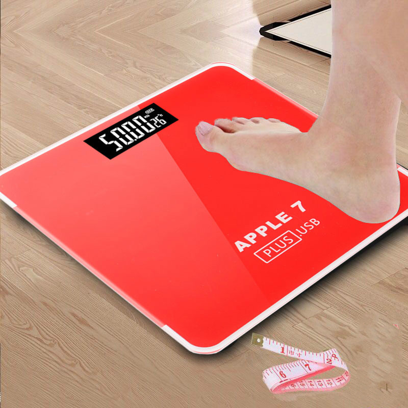 Bathroom floor scales smart household electronic digital Body bariatric LCD display Division value 180KG/50G Free Shipping