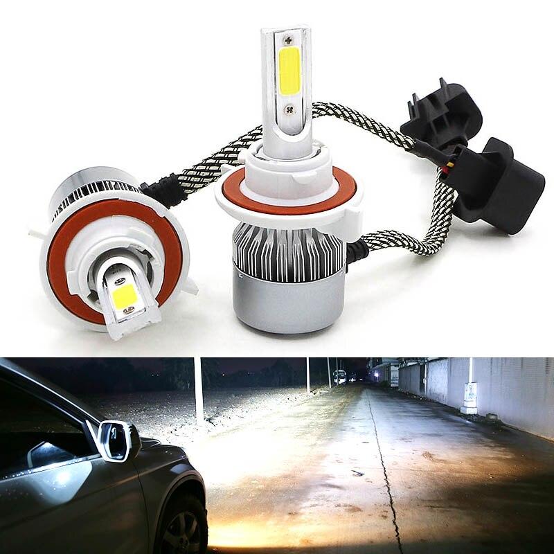 2PCS H13 9008 LED Headlight High Low Beam Bulbs For Chevrolet Cruze 2011-2015
