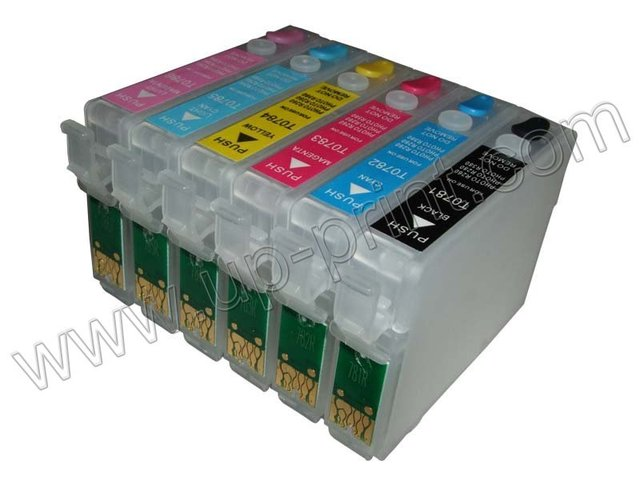 T0781 30sets/lot  refillable ink cartridge for Epson Stylus Photo R260 R280 R380 RX580 RX595 RX680 Artisan 50 free shipping