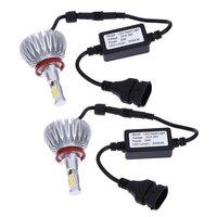 1 Pair 60W 6000lm H11 Cob Car Automotives Headlight Kit Auto Front Bulb Car LED Headlights