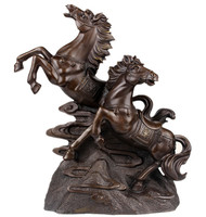 A horse to horse Pentium copper lucky money horse Home Furnishing jewelry bronze ornaments boutique