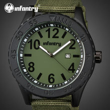 INFANTERÍA Hombres Reloj de Nylon Ultra Delgado Relojes de Cuarzo Luminoso 30 M Impermeable Relogio masculino Militar Deporte Relojes Reloj Masculino