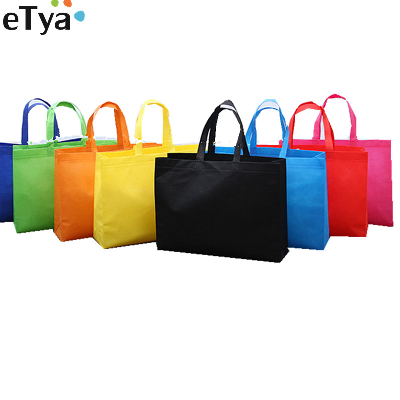 eTya Women Foldable Shopping Bag Reusable Eco Large Unisex Fabric Non-woven Shoulder Bags Tote grocery cloth Bags Pouch