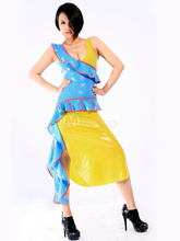 High Quality Halloween Carnival Party Gorgeous Color Blocking Unisex Unique Latex Zentai Suit