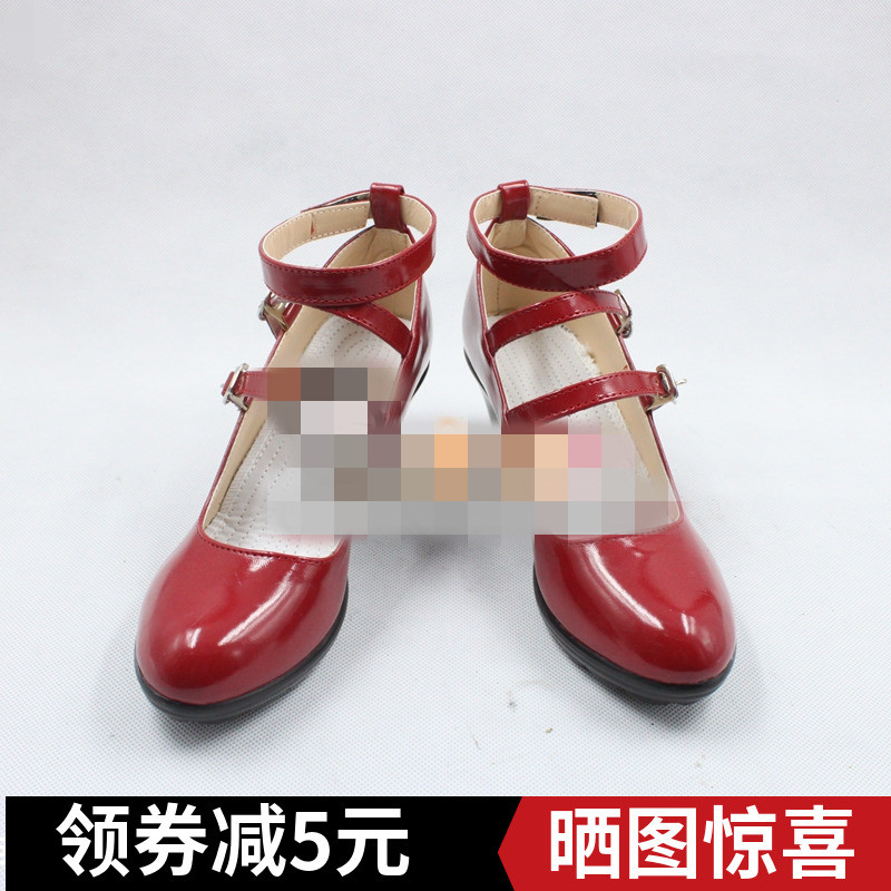 Danganronpa Celestia Ludenberg <font><b>red</b></font> cos Gothic <font><b>lolita</b></font> Cosplay <font><b>Shoes</b></font> Anime Custom-made image