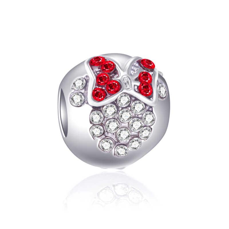 Europejskie kryształowe parasol korona buty klucz dreamcatcher Mickey koraliki Fit Pandora Charms bransoletki i Bangles dla kobiet DIY biżuteria
