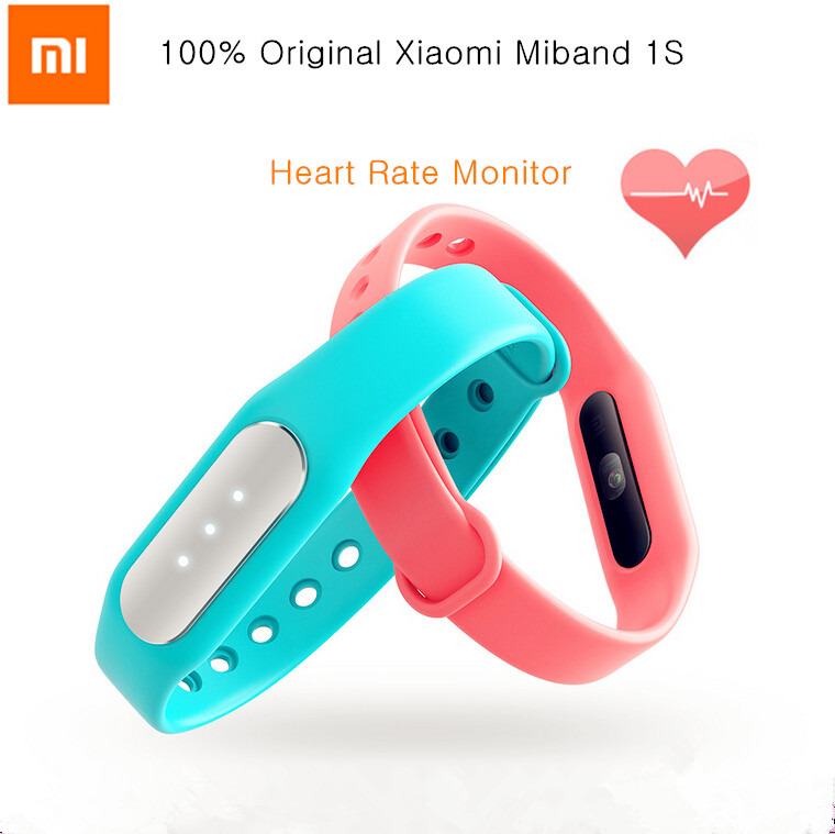 Original Xiaomi Mi Band 1S Heart Rate Smart Miband Bracelet For Xiaomi MI4C Note 2 Iphone 6 Plus Android IOS Mobile Phone