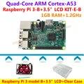 Raspberry Pi 3 Модель B (1.2 ГГц, 1 ГБ ОПЕРАТИВНОЙ ПАМЯТИ, Bluetooth, Wi-Fi) + 3.5 дюймов сенсорный экран + Стилус + Прозрачный Чехол = Raspberry Pi 3 модель B KIT-E-B