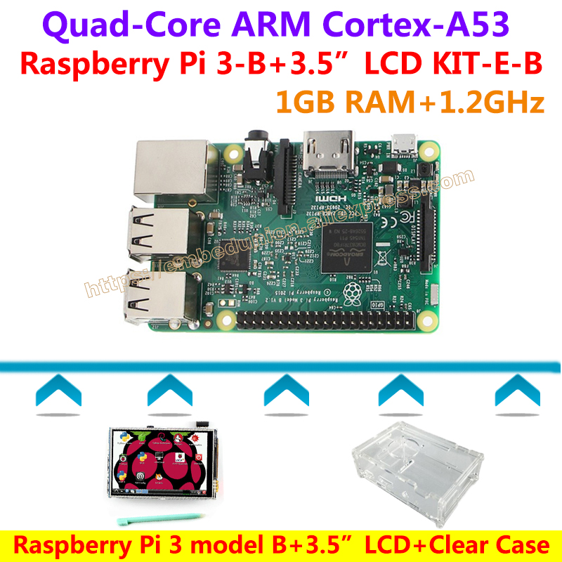 Raspberry Pi 3 Model B(1.2GHz,1GB RAM,Bluetooth,WiFi)+3.5 inch Touch screen+Stylus+Clear Case=Raspberry Pi 3 model B KIT-E-B original intention elegant women over the knee boots fur cow leather pointed toe thin heels boots shoes woman us size 4 8 5