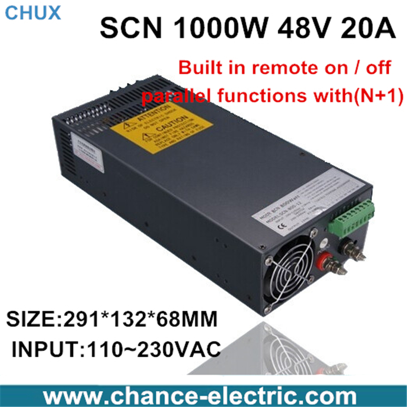 48v  20a switching power supply  SCN 1000W 110-220VAC SCN single output input  for cnc cctv led light(SCN-1000W-48v)