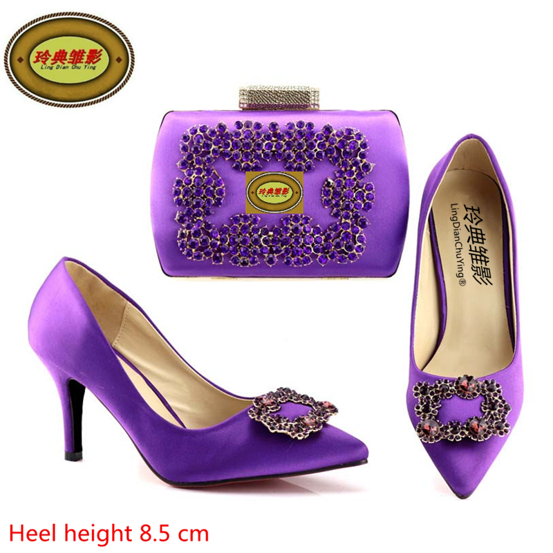 A168-3 Selling Fast Italian Shoes With Matching Bags African Women Shoes and Bags Set With Stone Wholesale fast talk italian