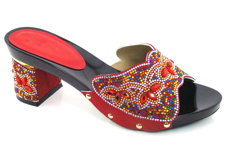 ФОТО Most popular women sandals African shoes with nice rhinestone for big party!! DG1-23