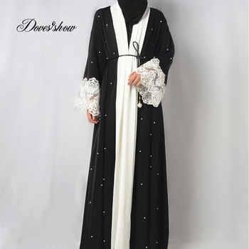 Fashion Muslim Dress Abaya in Dubai Nida with Pearl Islamic Clothing For Women Jilbab Djellaba Robe Musulmane Turkish Baju 5XL - DISCOUNT ITEM  28% OFF All Category