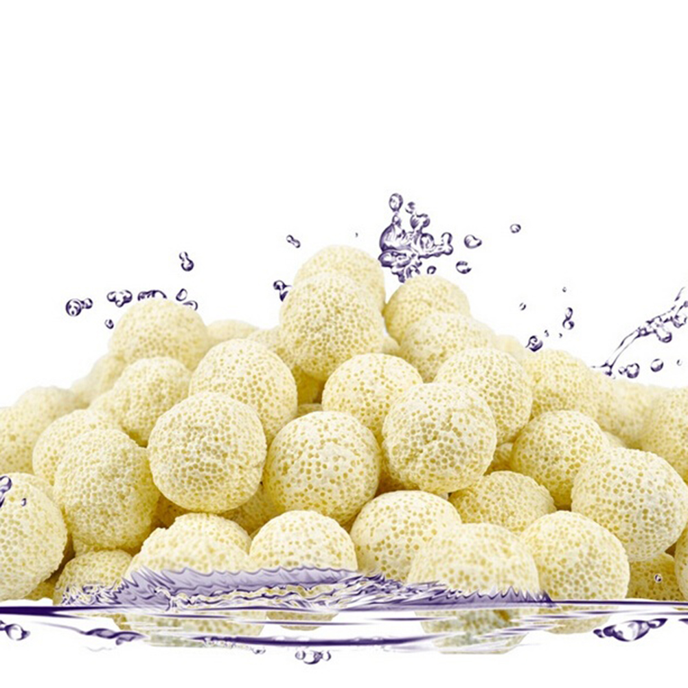 10PCS Ceramic Ball Bio Porous Filter Media Net Bag Biological Aquarium Filter Nitrifying Bacteria Material Cleaning Tools Yellow