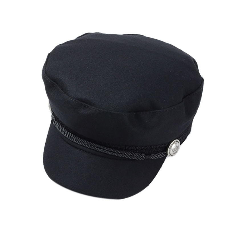 f5521c3ad44 Dropwow Fashion black Hat Winter Cap Wool Hat Women Button Cap ...