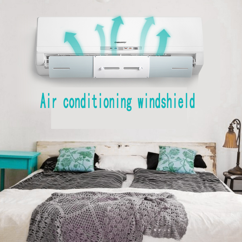 Home Air Conditioner Cover Air Conditioning Adjustable Windshield Baffle Shield Wind Guide Straight Prevent Direct Blow Bedroom