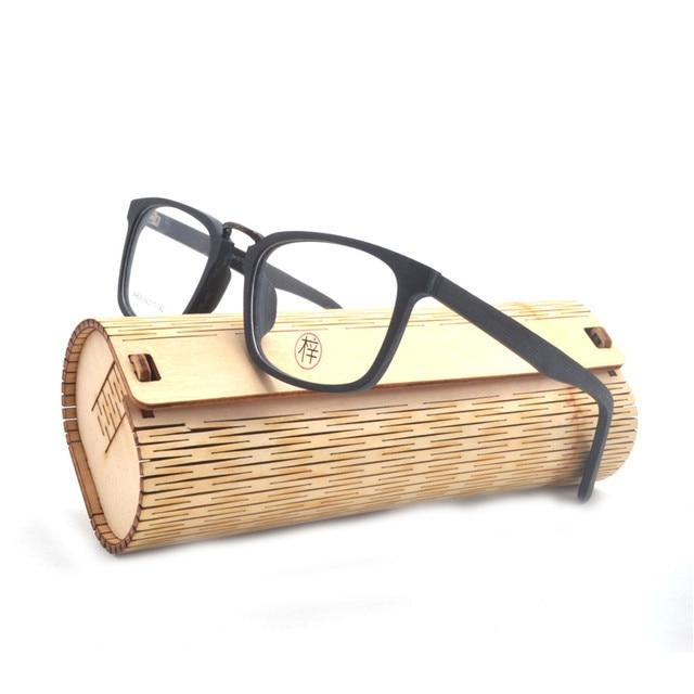 219e732c43b Prescription Eyeglasses Frames Wood Grain Optical Glasses Frame with Clear  Lens Men Women Wooden Glasses Frames