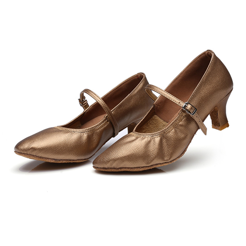 Free Shipping Hot Sale Khaki Latin Dance Shoes Women Girls Salsa Tango Ballroom Shoes Zapatos De Baile 229