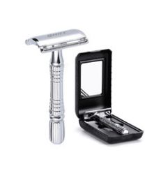 Men's Shaving Razor Double Edge Safety Razor Zinc Alloy Safety Razor Classic For Men 1 Razor 1 Blade 1 Case Shaver set 19