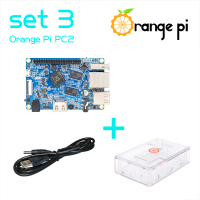 Orange Pi PC2 SET3 Orange Pi PC2+ Transparent ABS Case +Power Cable, Supported Android,Debian