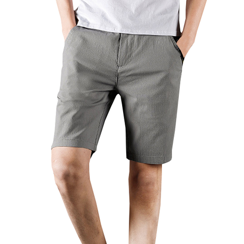 New Brand Tops 2018 Summer New Casual Shorts Men Sim Solid Black Khaki Available Knee Length High Quality