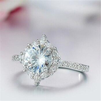 טבעת יהלומי קריסטלים לחתונה מאושרת