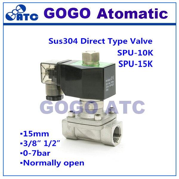 SPU 10K 15K Stainless steel 3 8 1 2 Orifice 15mm 16 bar Normally open pilot