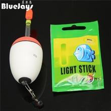 BlueJays 5pcs 10g-60g EVA float + 5pcs Glow stick Night Bobber Fishing Floats Tube Luminous Lighting Foam Floats free shipping
