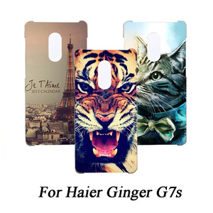 Cubierta de teléfono de Tpu suave para Haier Ginger G7s Fundas de silicona pintadas de lobo Rosa gato Eiffel Fundas transparentes para Haier G7S funda