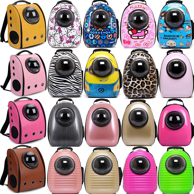 Fashion Pet Travel Carrier Space Capsule Shaped Breathable Pet Backpack Pet  Dog Bags Outdoor Portable Cat Carrier Case 59ddf6b6af