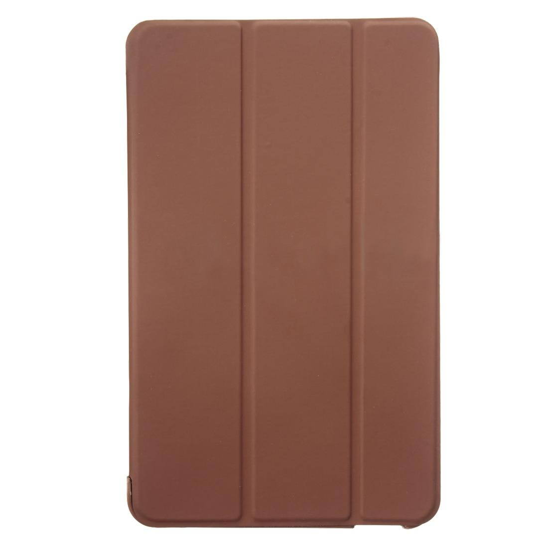 Для huawei MediaPad T1 8,0 S8-701U планшет чехол крышка Подставка держатель ультра тонкий Цвет: коричневый