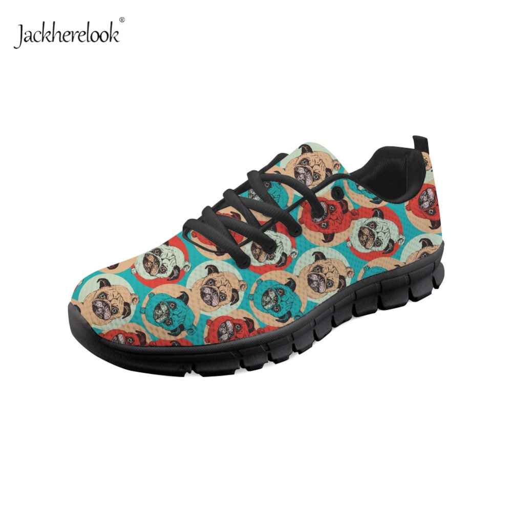 Jackherelook Spring Summer Women Running Shoes Pug Pop Art Design Comfort Sport Athletic Shoes for Female Sneakers Fitness Shoes