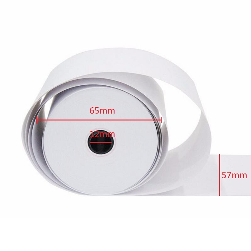 3 Rolls/set Office School Supplies Cash Register Paper Thermal Paper Roll 57x50mm Single Type 62g Paper POS Printer Plastic Code