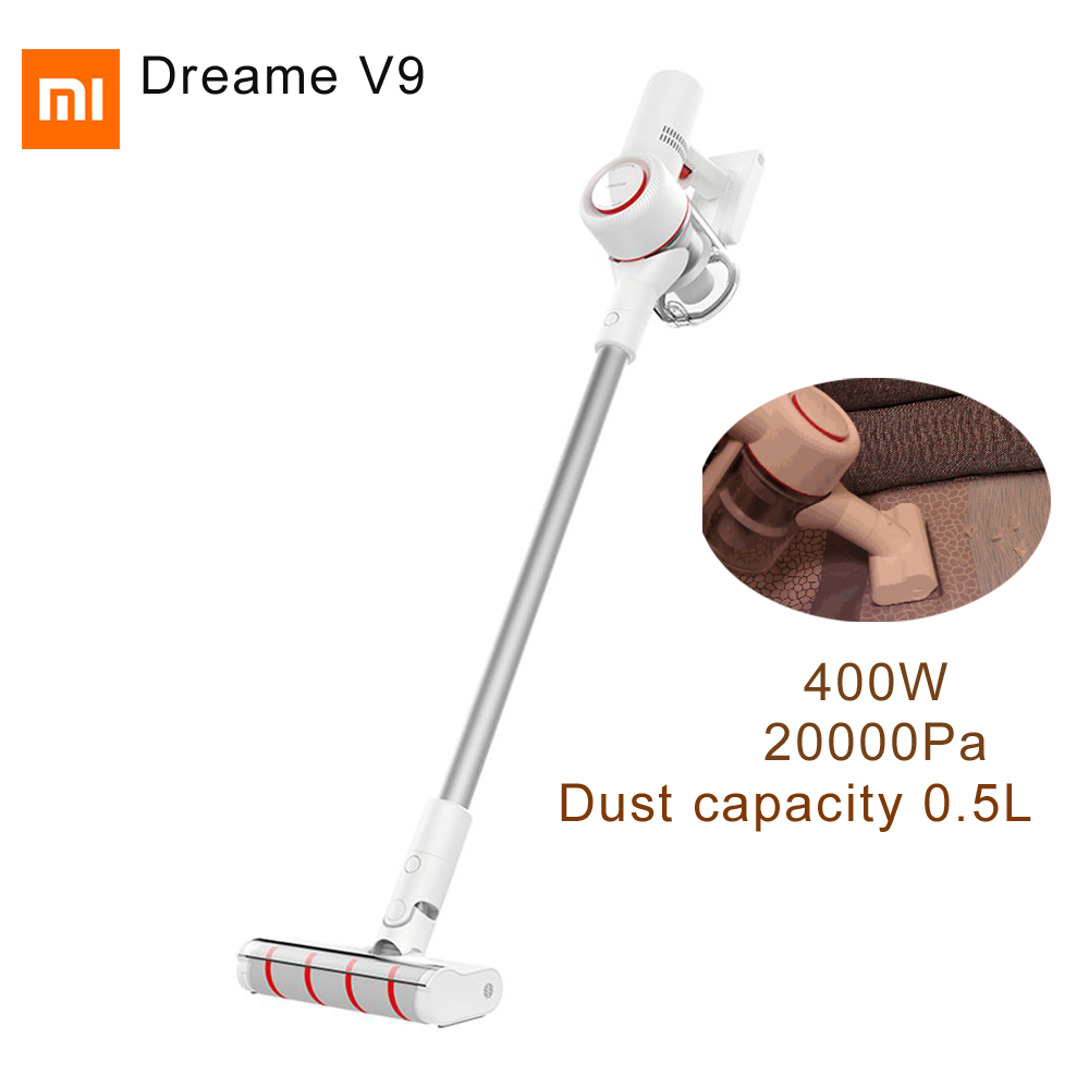 2019 version mondiale 20000 Pa 400 W Xiaomi Dreame V9 aspirateur à bâton sans fil pour maison intelligente capacité de tasse à poussière automatique