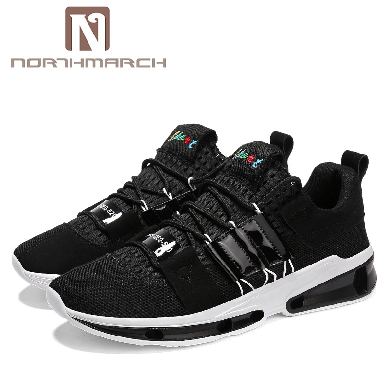 NORTHMARCH New Men Casual Shoes Lace Up Fashion Brand Mesh Spring Summer Shoes Flats Solid Men Breathable Shoes Man Zapatillas spring summer men casual shoes fashion leather lace up driving shoes breathable moccasins men shoes flats