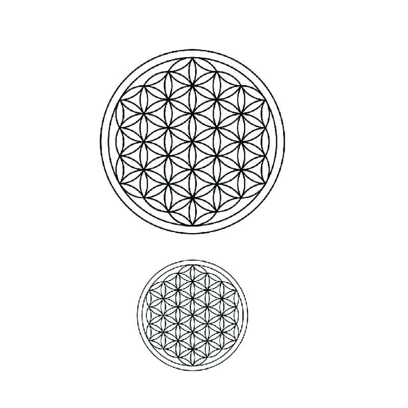 Flower Of Life Waterproof Temporary Tattoo Sticker  Fake Tattoo Tatuagem Tatoo Sleeves Henna Tattoo Sticker