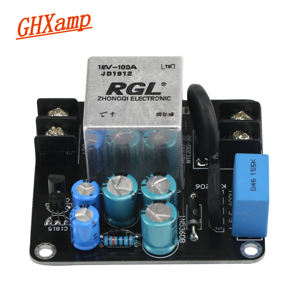 GHXAMP AMP Power Supply Soft Starting Board High Power 100A High-current Relay For Class A 1969 Audi Amplifier DIY 1500W
