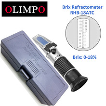 OLIMPO Handheld refractometers 0-18% Brix meter metal mechanical Cutting fluid sugar food tester juice tomato sauce soft drink(China)