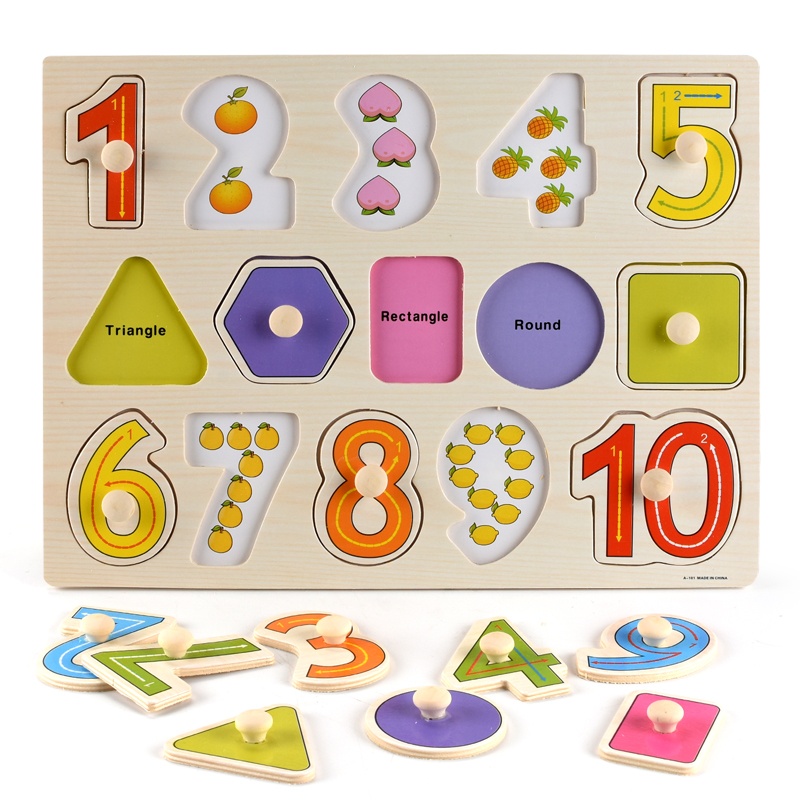 3D Puzzle Montessori-Toys Cognition Geometry-Shape Early-Learning Colorful Kids Children