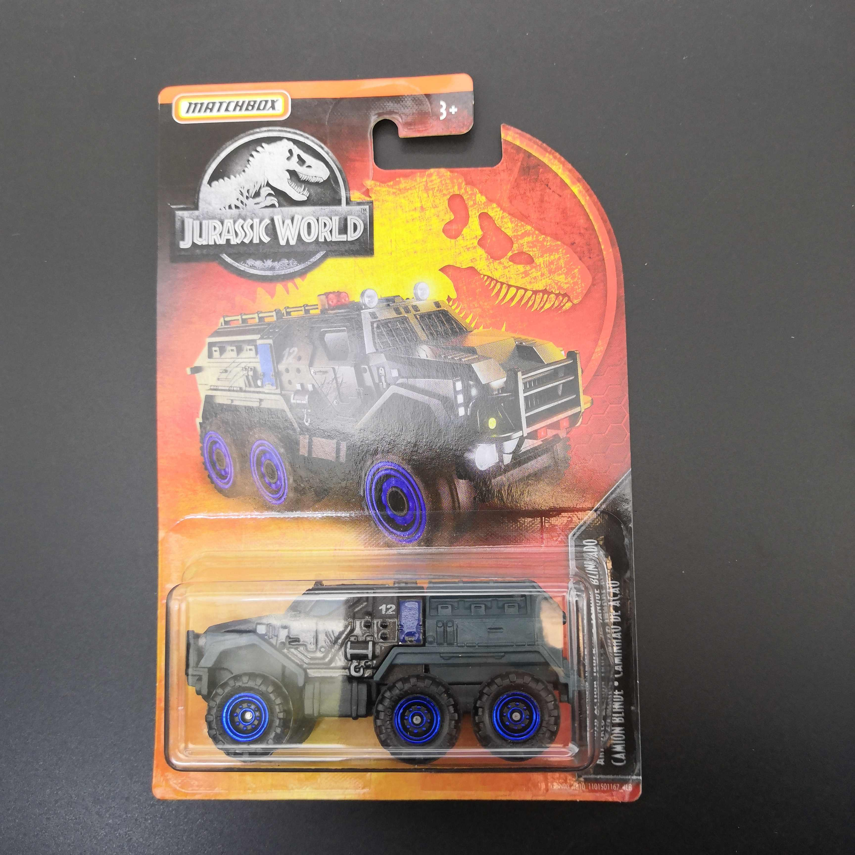 2019 Matchbox Car 1:64 Sports Car JURASSIC WORLD CAMION BLINDE  Metal Material Body Race Car Collection Alloy Car Gift