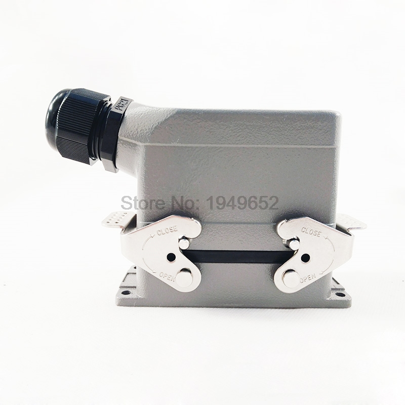 Heavy Duty Connectors HDC-HSB-006-1 F/M 6pin 35A Industrial rectangular Aviation connector plug heavy duty connectors rectangular connectors runner connector air plugs hd 040 surface mounted with cover