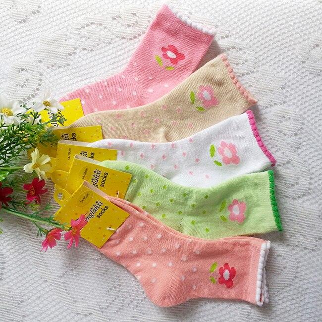 a12403bc98 Jesień i zima mały kwiat skarpetki bawełniane dla dzieci 1-12 lat kobiet  dziecko skarpety dziewczyny bawełniane skarpetki