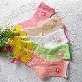 Otoño e invierno pequeña flor de algodón calcetines de bebé 1-12 años de edad del niño femenino calcetines de las niñas calcetines de algodón
