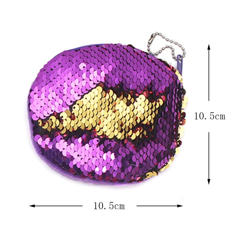 XYDYY Nya Dubbelfärg Sequin Coin Purses Mermaid Paillette Coin - Plånböcker - Foto 2