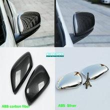 2PCS/Lot ABS Chrome For Renault Koleos Samsung QM6 2017 Car Side Door Rearview Mirror Exterior Trim Auto Accessories 3D Cover