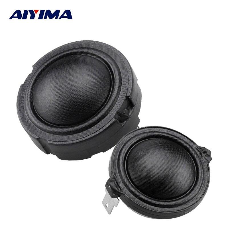 100% QualitäT Aiyima 2 Stücke 1,5 Zoll Audio Lautsprecher 4ohm 80 Watt 25 Kernfaser Membran Rubidium Magnetischen Lautsprecher Hifi Enthusiasten Höhen Hochtöner Kopf